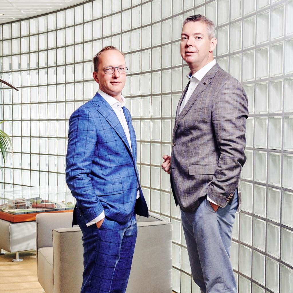Heilijgers Arjan van Asselt en Rob Jansen