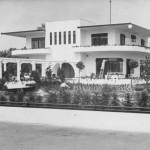 Villa Jongerius Utrecht achterzijde met pergola anno 1938