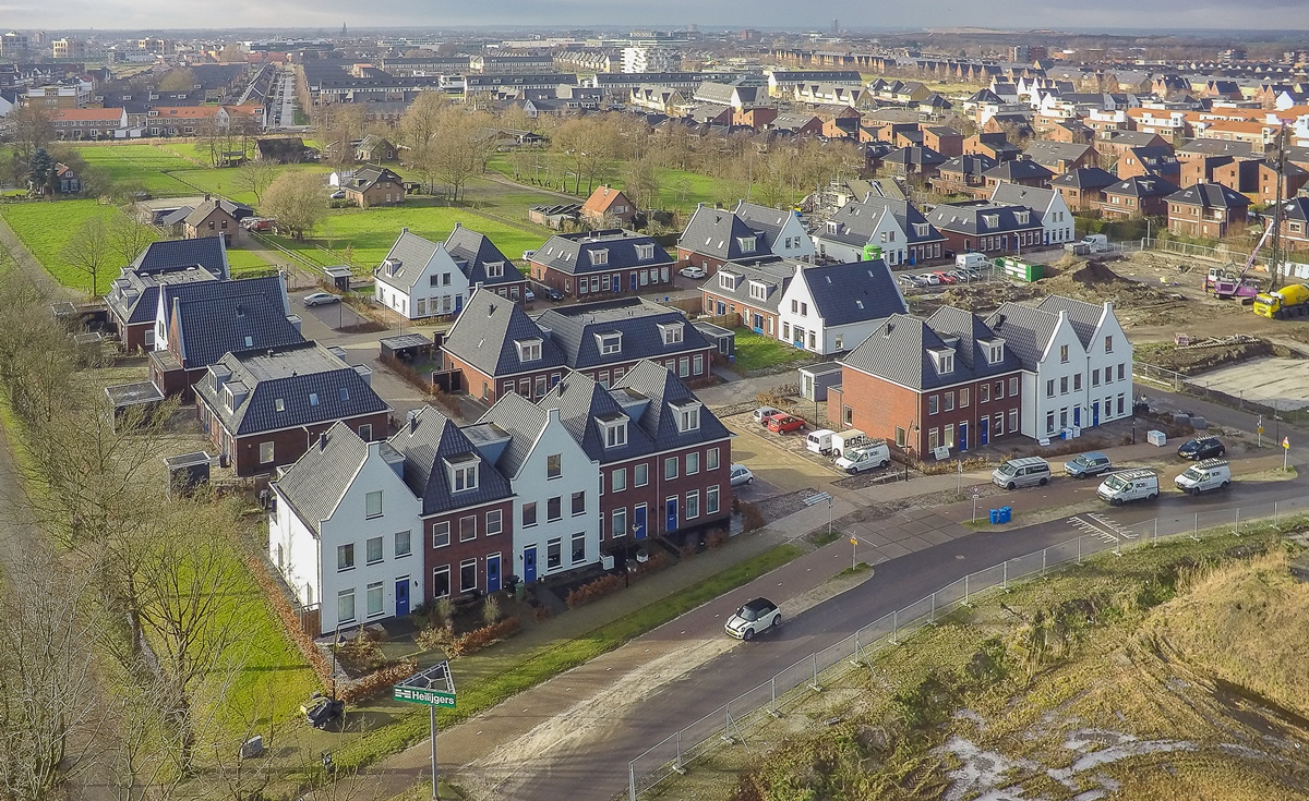 Heilijgers 't Veenhof Hooglanderveen Vathorst luchtfoto projectontwikkelaar bouwbedrijf