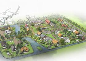 Nieuwbouw woningen Rijsoord Ridderkerk Heilijgers vogelvlucht