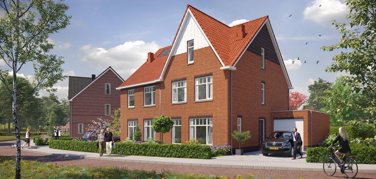 Holzenbosch Holzenhoef Voorthuizen nieuwbouw woningen Heilijgers Projectontwikkeling twee onder een kap