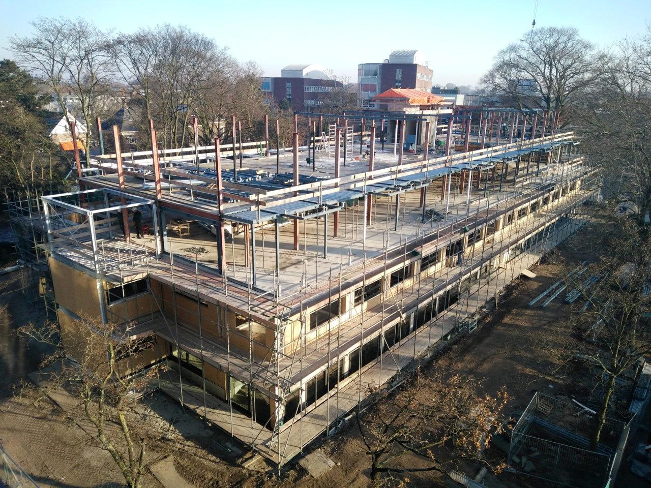 Heilijgers Bouwbedrijf transformatie bibliotheek Amersfoort appartementen Boekhuis oude bibliotheek staalskelet