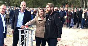 Heilijgers start bouw woningen De Groene Hoogte Soesterberg Harrie Dijkhuizen Arjan van Asselt