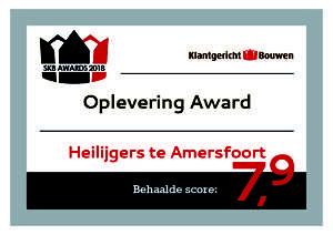 Oplevering Award Heilijgers Amersfoort SKB Stichting Klantgericht Bouwen