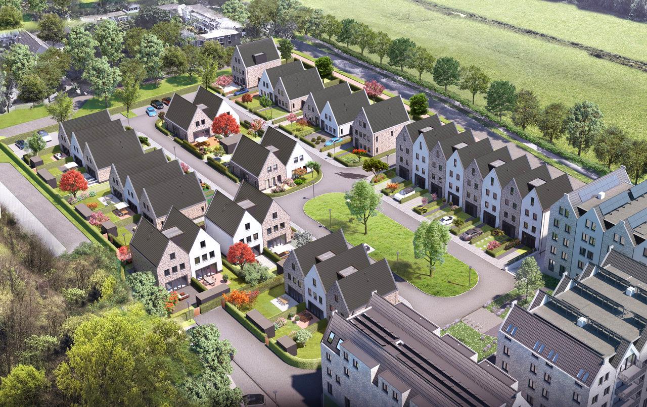 Heilijgers Projectontwikkeling - De Verborgen Tuinen Leusden fase 2 - Vogelvlucht