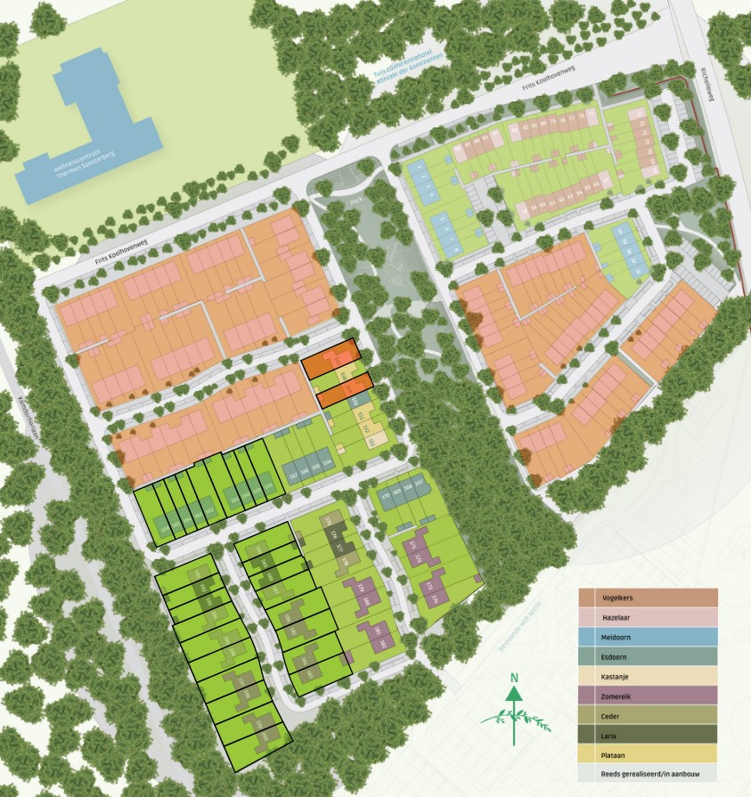 Soesterberg De Groene Hoogte kavelkaart fase 3