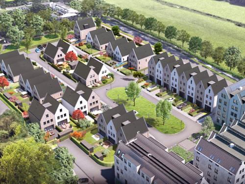 Heilijgers Projectontwikkeling - De verborgen tuinen Leusden fase 2 - Vogelvlucht stage