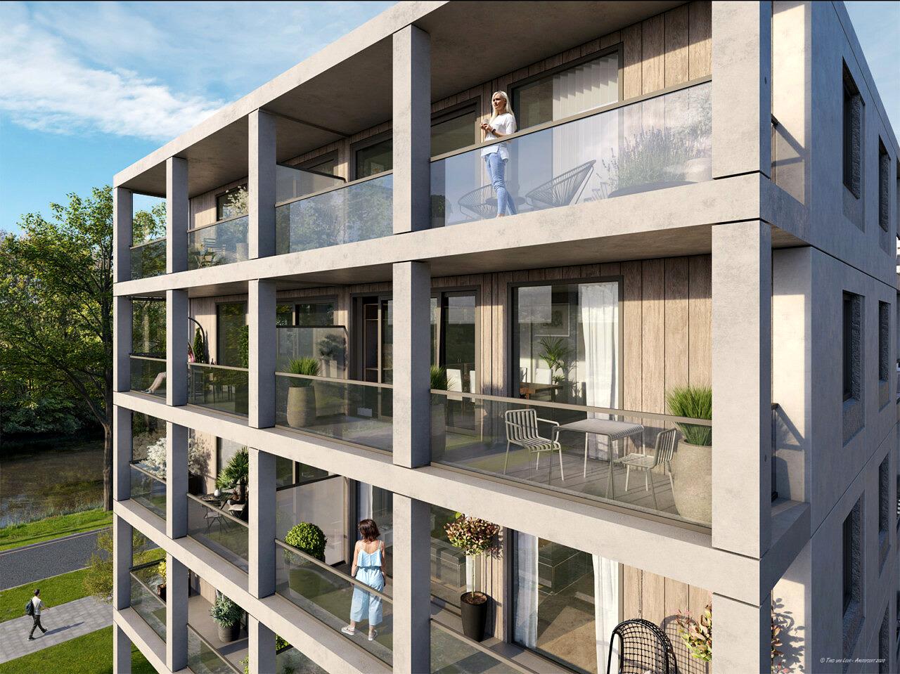 De Lichtpen nieuwbouw appartementen De Hoef Amersfoort bpd Zeep architecten