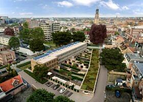 Stadswoningen Zonnehof 10 Amersfoort - vogelvlucht - Latei - Heilijgers Vastgoed