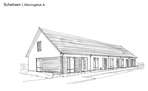 Thuis in Bloemendal Barneveld Bloemenvelden schetsen woningblok A
