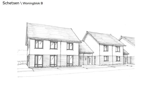 Thuis in Bloemendal Barneveld Bloemenvelden schetsen woningblok B