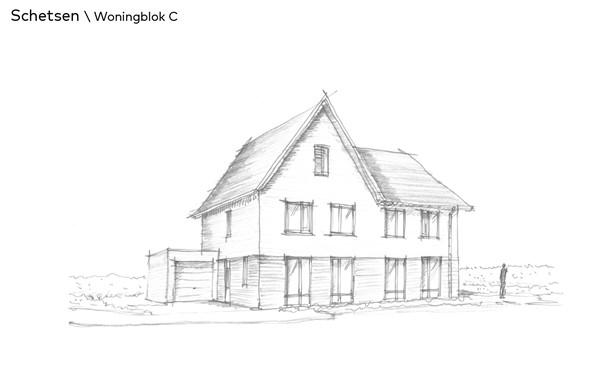 Thuis in Bloemendal Barneveld Bloemenvelden schetsen woningblok C