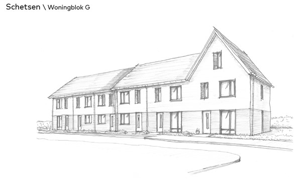 Thuis in Bloemendal Barneveld Bloemenvelden schetsen woningblok G