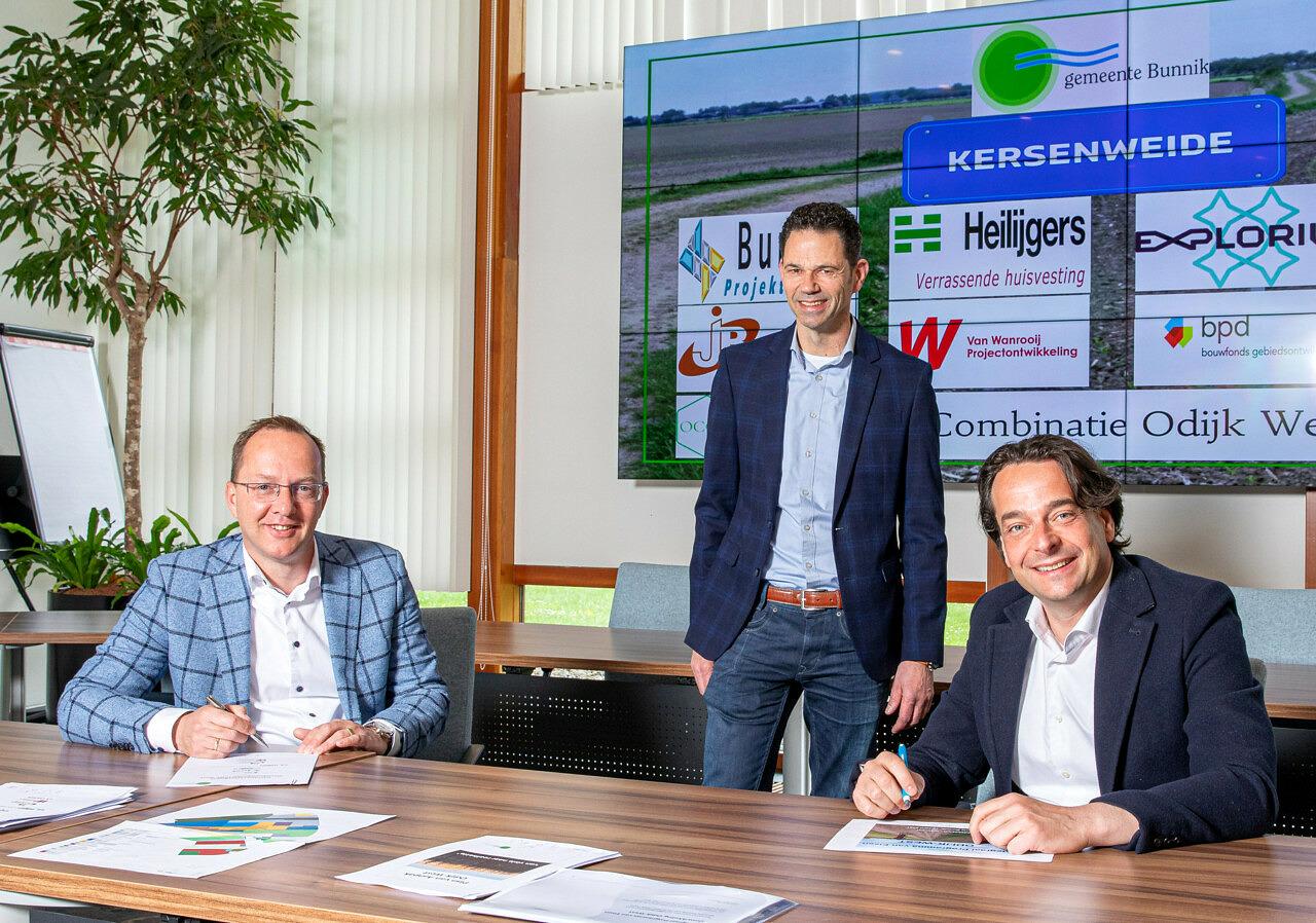 Intentieovereenkomst woningbouw Kersenweide Bunnik Odijk - ondertekening